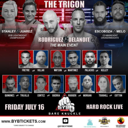 BYB Extreme Fighting Announces Action-Packed Card for Its Return to Hard Rock Live